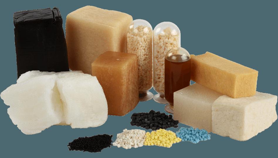 photo of selection of zeon synthetic rubber elastomers